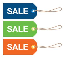 set of sale signs
