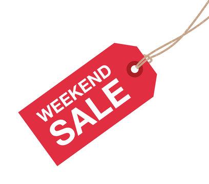 weekend sale sign