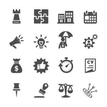 business concept icon set, vector eps10