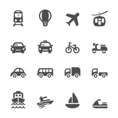 transportation and vehicle icon set, vector eps10