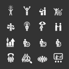 business and management icon set 6, vector eps10