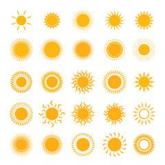 vector yellow symbols of sun