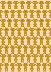 bear pattern background