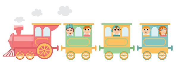 Kids on train