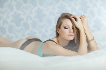Sexy Woman morning bed