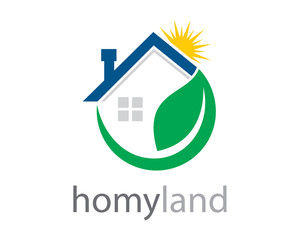 Green House with Sun Shine Logo