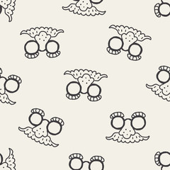 doodle Mask seamless pattern background