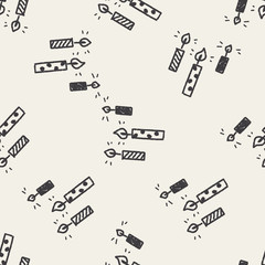doodle candle seamless pattern background