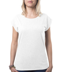 plain white girly top