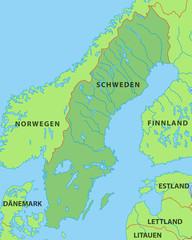 Schweden Karte in grün
