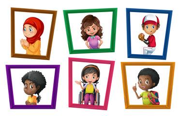 Children in frames
