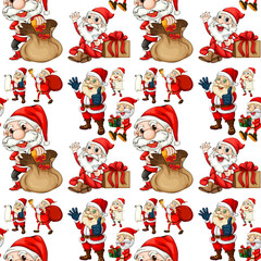 Seamless Santa