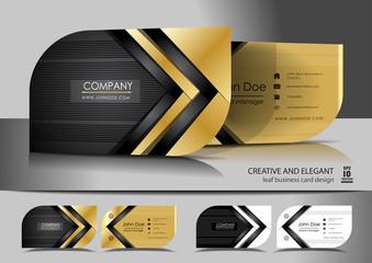 Creative leaf business card design