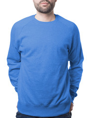 pullover template with guy blue