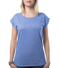 girl wearing blue top