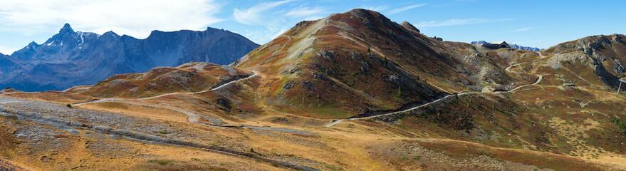 Panoramic view of the Italian Alps