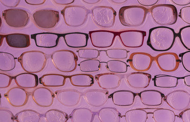 Pink sunglasses background photo