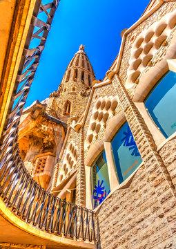 The Sagrada Familia church in Barcelona, Spain