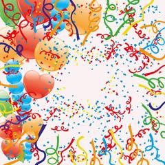 Vector background. Confetti