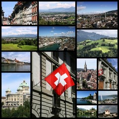 Switzerland - travel collage