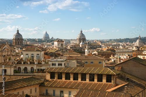 Cityscape Of Rome View From The Terrazza Delle Quadrighe Roof