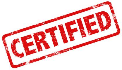 Grunge stamp certified red