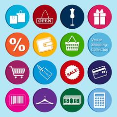 vector collection: shopping icons