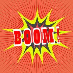 BOOM! comic speech bubble