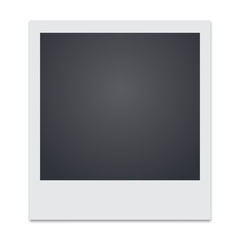 photo frame with shadow vector illustration