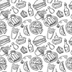 Food Hand Drawn Seamless