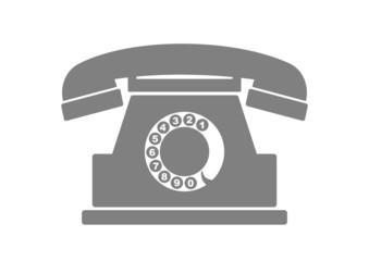 Telephone vector icon on white background