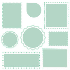 Decorative frames set, blank for your text