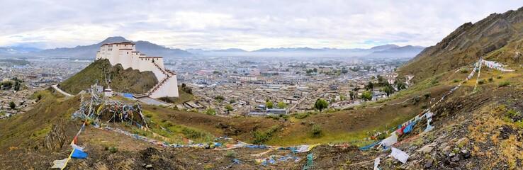 Shigatse Monastery Panorama in Tibet