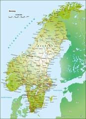 Norwegen Schweden 1:6,6 Mio