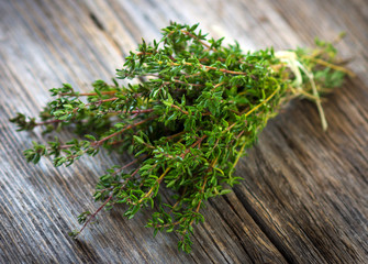 Bunch of fresh picked thyme