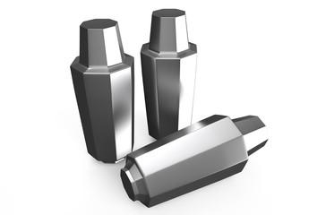 Steel ingots in metallurgy