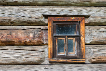window in the old log house