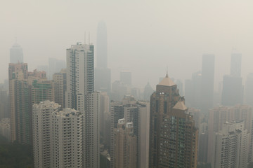 Smogalarm in Hong Kong
