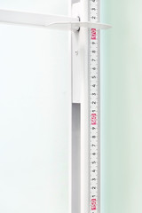 Closeup stadiometer - human height measuring devices