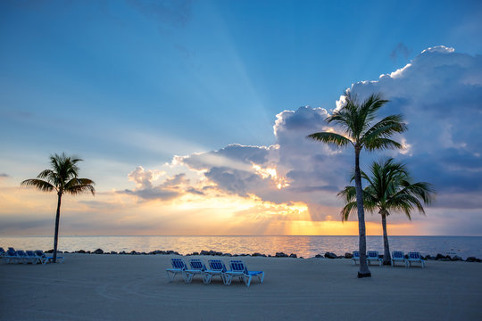 Awesome sunset on Key Largo, Florida, USA