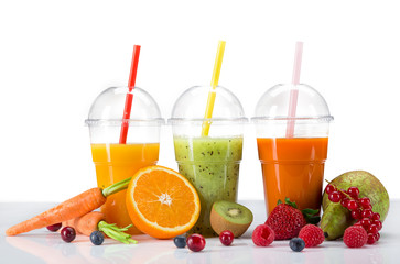 Foto op Canvas Sap Fresh juice mix fruit