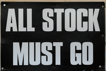 All stock must go