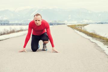 Man starting jogging