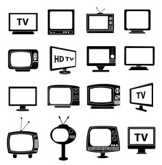 TV Monitor icons set