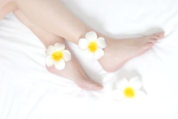 足にプリメーラの花置きフットケアをイメージ