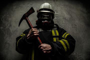 Firefighter in uniform