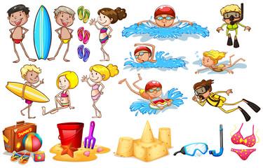 Group of kids enjoying summer