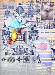 Esoteric scrapbook background series