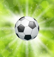 Football light background with ball
