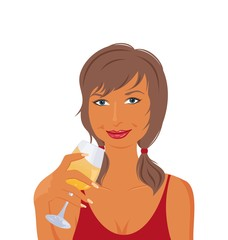 pretty girl with beverage